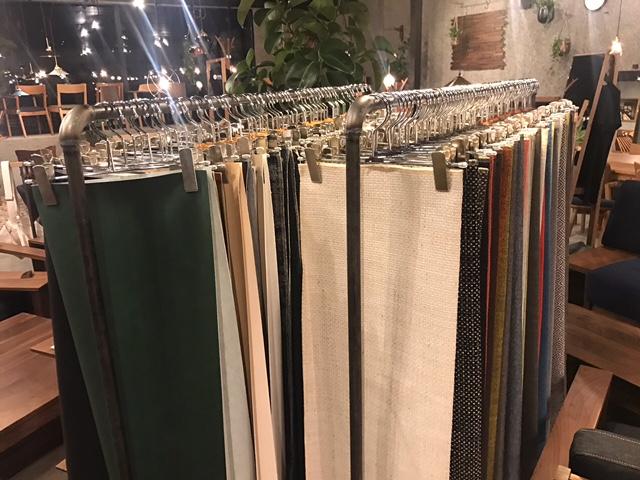 SOLID、ミヤモト家具、金沢、新店舗、家具、無垢材、カバーリング、生地