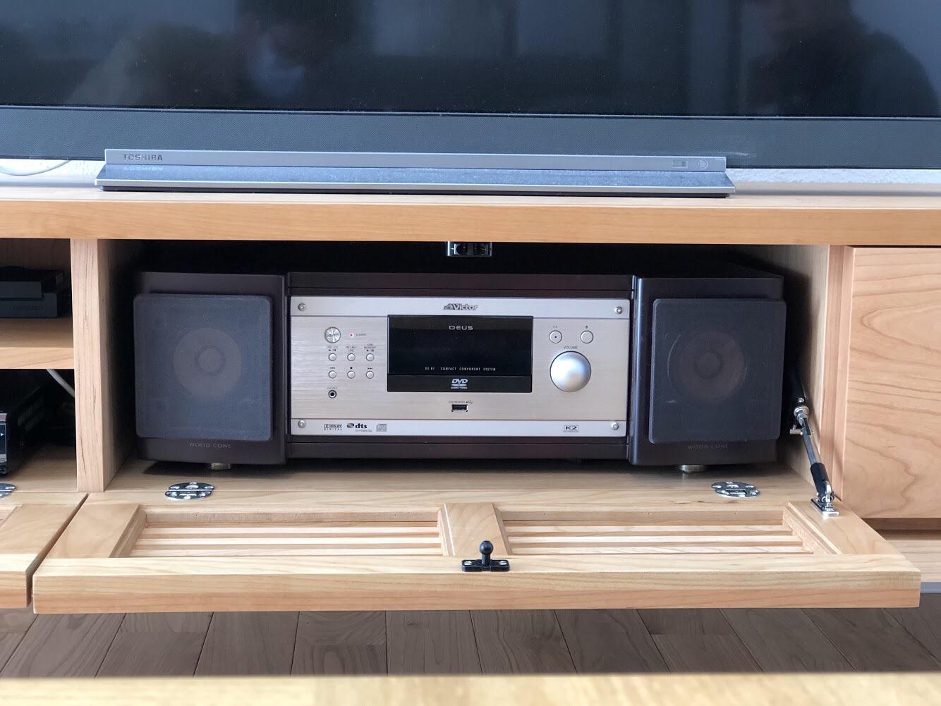 ミヤモト家具 SOLID 富山 金沢 TVボード 造作 特注 オーディオ ブラックチェリー