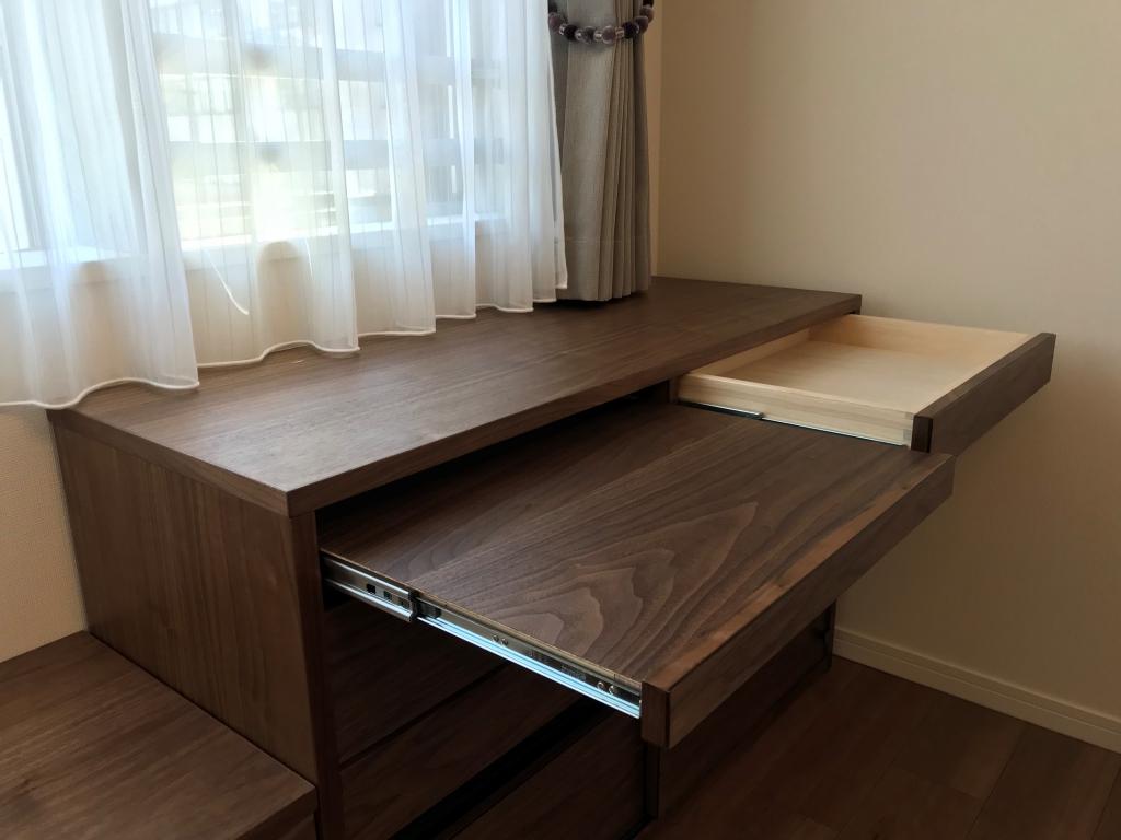 ミヤモト家具、無垢、富山、金沢、家具、オーダー、収納、TVボード
