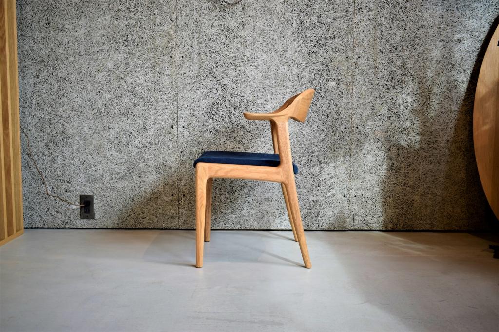 SOLID、金沢、家具、富山、ミヤモト家具、椅子、チェア、無垢材、帆布、ショートアーム、ハーフアーム、ハンギング、新作