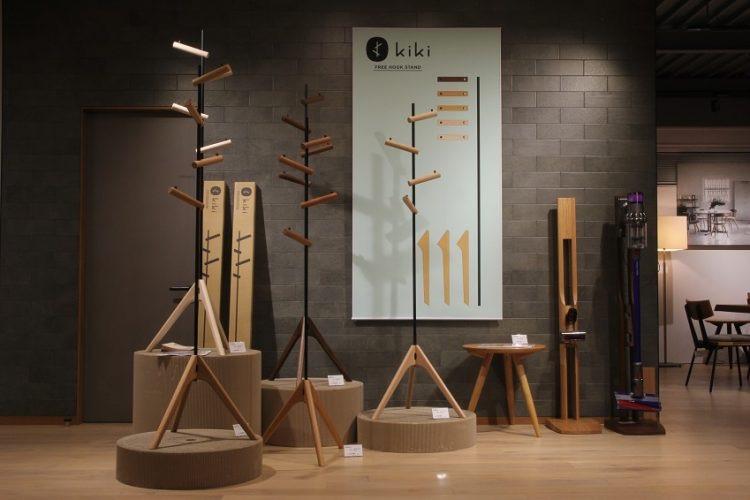 SOLID、金沢、家具、富山、ミヤモト家具、アイアン、無垢材、コートハンガー、組み立て式、新作