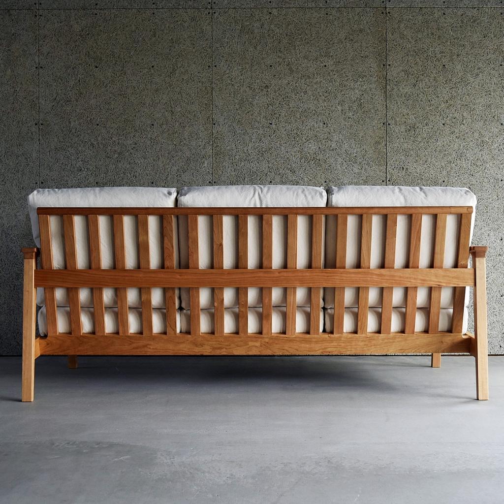 SLC370、ミヤモト家具、SOLID、富山、金沢、ソファ、木製ソファ、帆布