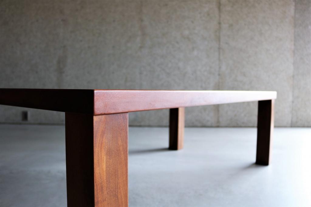 SOLID金沢、富山、無垢材、家具、ウォールナット、リビングテーブル、センターテーブル④