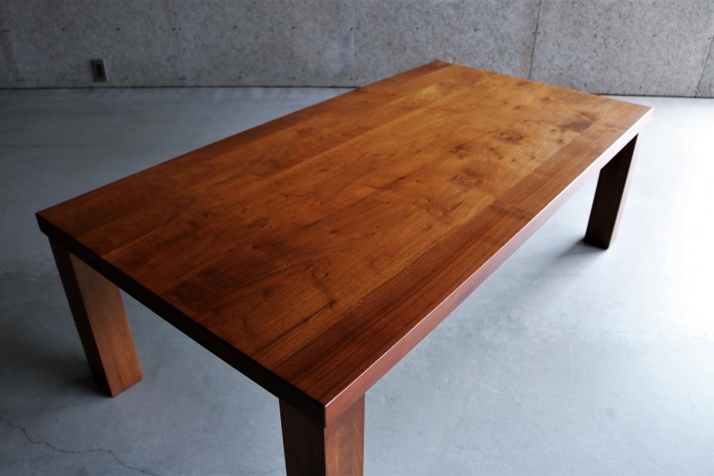 SOLID金沢、富山、無垢材、家具、ウォールナット、リビングテーブル、センターテーブル③